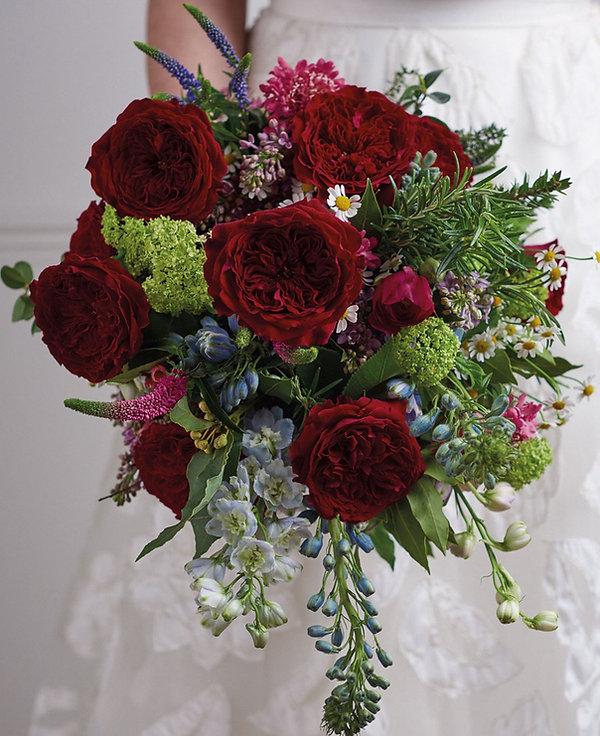 Tess English Garden Rose Bouquet