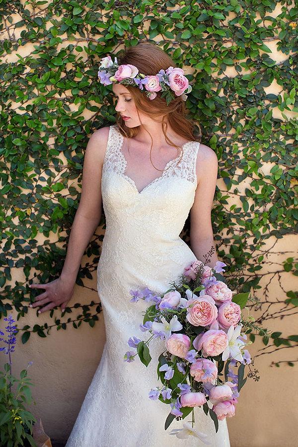 Constance English Garden Rose Wedding Bouquet