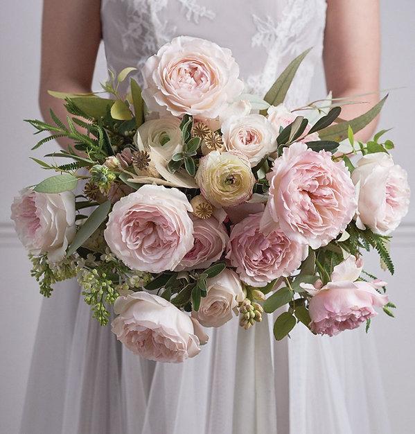 Keira English Garden Rose Bouquet