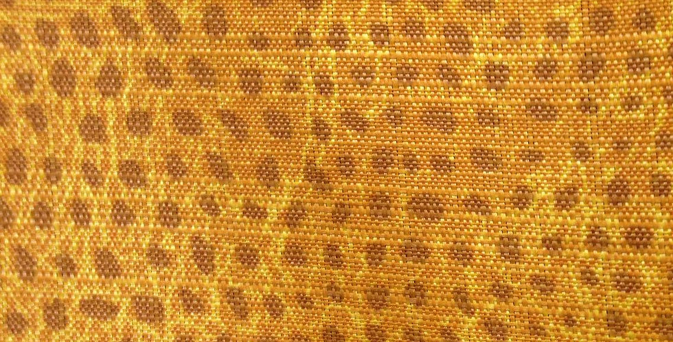 Orange Crackle Cheetah Outdoor Fabric