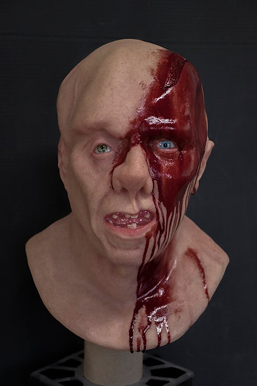 THREE (axe wound) - Resin Bust