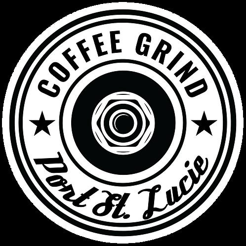 """Coffee Grind 3"""" Vinyl Sticker"""
