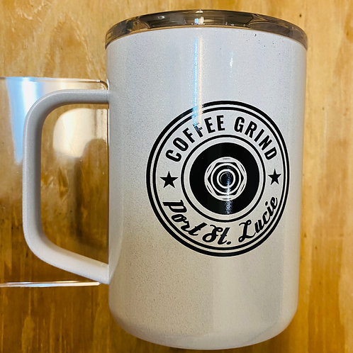 Coffee Grind White Unicorn Magic Corkcicle Mug
