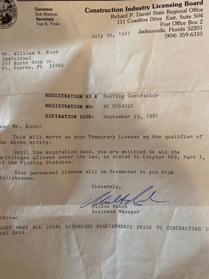 William Koch License