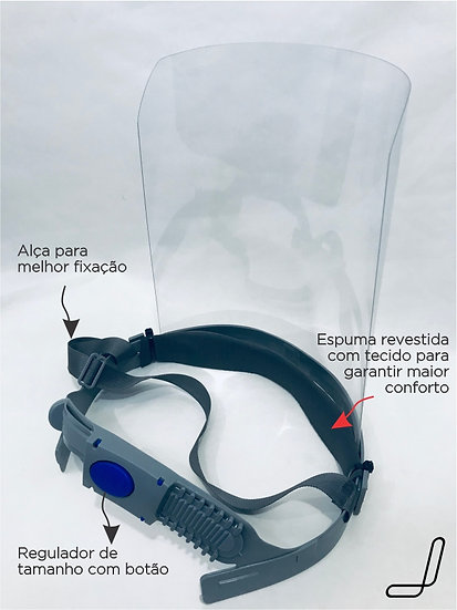 Máscara Proteção Facial, Face Shield, Protetor Facial