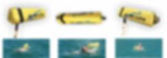 Bóia de natação sinalização e segurança.