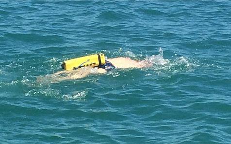 Bóia de natação sinalização e segurança