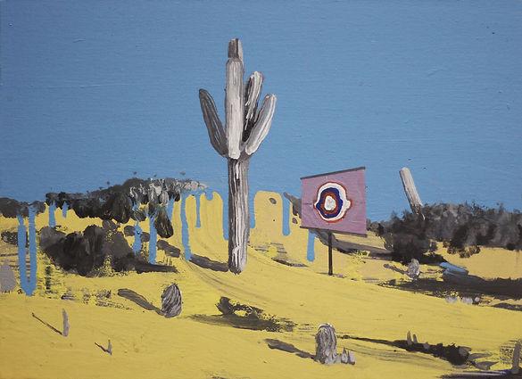 an wei painting tough man desert landscape.