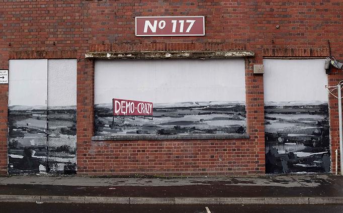 an wei democrazy street art Birmingham.