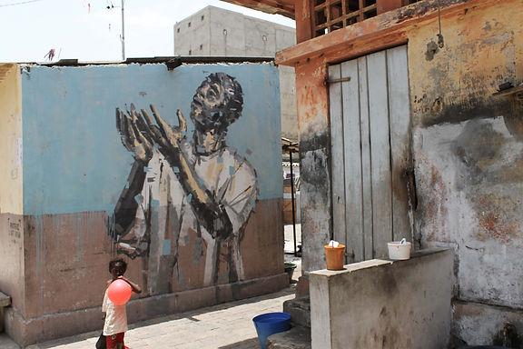 an wei painting wall street art dakar senegal