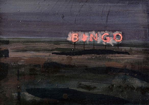 an wei painting bingo landscape neon.