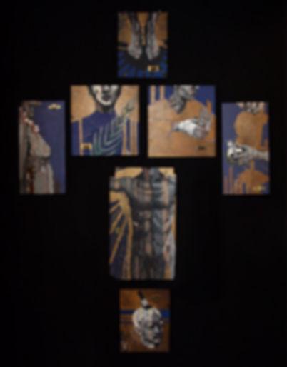 an wei painting espositivo serie santos penitencia arte contemporáneo.