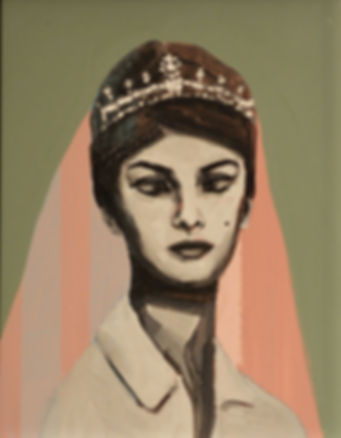 an wei painting princess bizca portrait.
