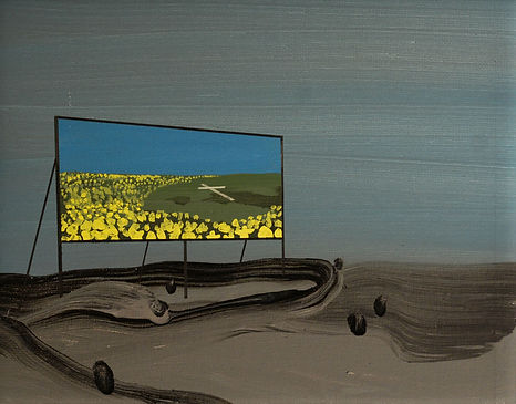 an wei painting desert in the city paradise.