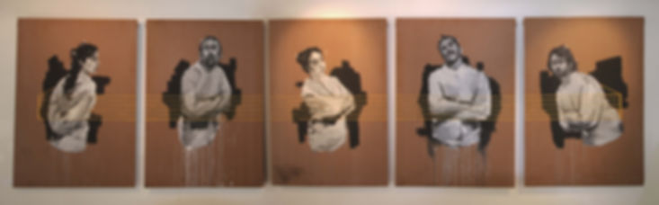 an wei painting black and white serie locos.