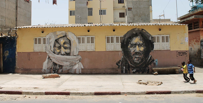 an wei Ahmadou Bamba & Ibrahima Fall street art dakar senegal