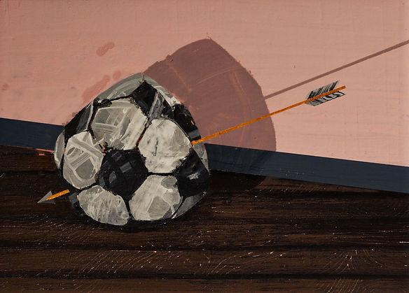 an wei painting no more game balón pinchado flecha.