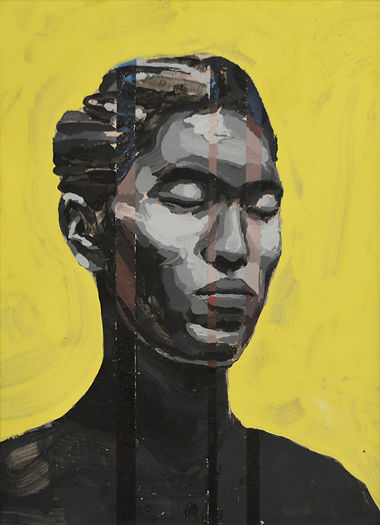 an wei painting self portrait chinese contemporary art.