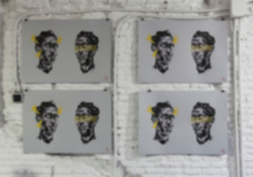 an wei painting espositivo serigrafía reflect portrait arte contemporáneo