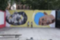 an wei rodrigo branco madrid campo de la cebada street art portrait.