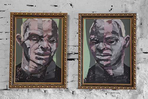 an wei painting espositivo whity brothers negro albino arte contemporáneo.