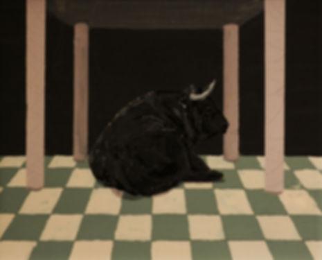 an wei painting toro ratón manolete.