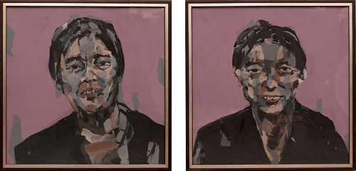 an wei painting espositivo papanwei y mamanwei chinese portrait arte contemporáneo exposición.