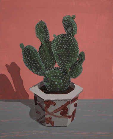 an wei painting chico dificil cactus.