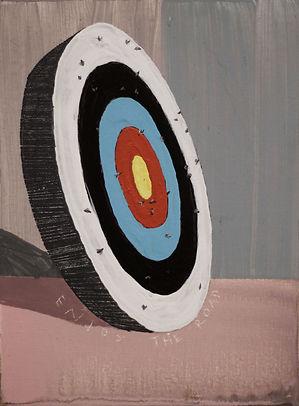 an wei painting target flies enjoy the road.