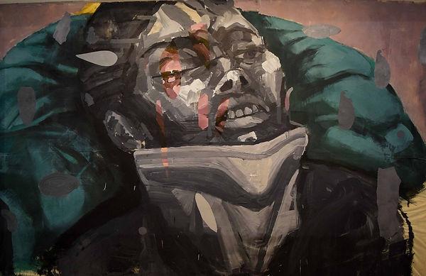 an wei painting portrait hombre fenix.