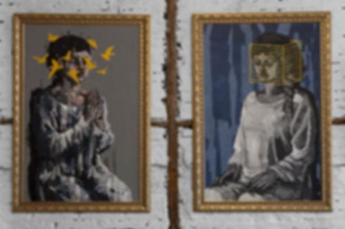 an wei painting espositivo hemera y nix, noche y dia arte contemporáneo.