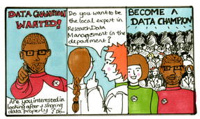 Data Champions Wanted Comic