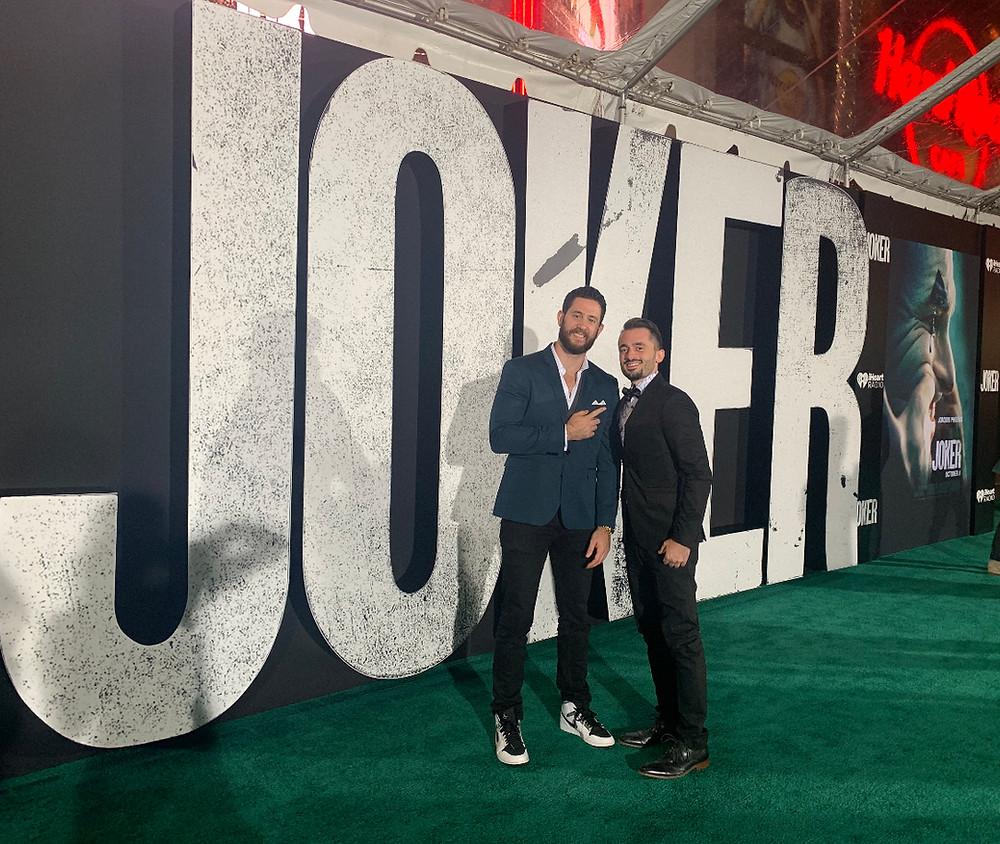 "Brad R Lambert with Brandon Davis at the ""Joker"" Premiere"