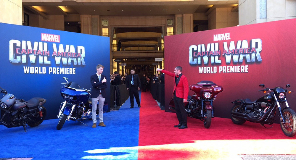 "Brad R Lambert with Shay Hatten at the ""Captain America: Civil War"" Premiere"