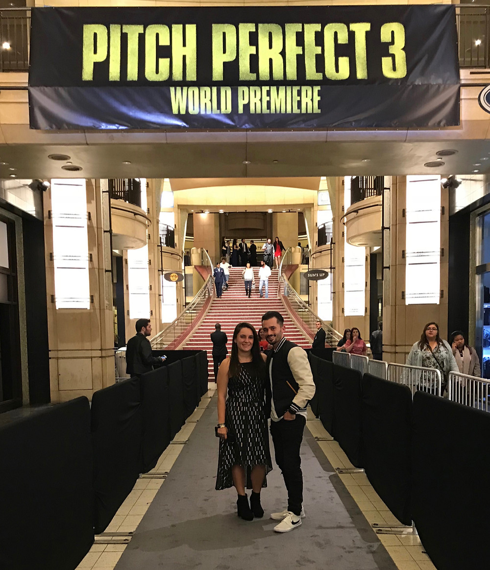 "Brad R Lambert with Katie Lambert at the ""Pitch Perfect 3"" World Premiere in Los Angeles, CA."