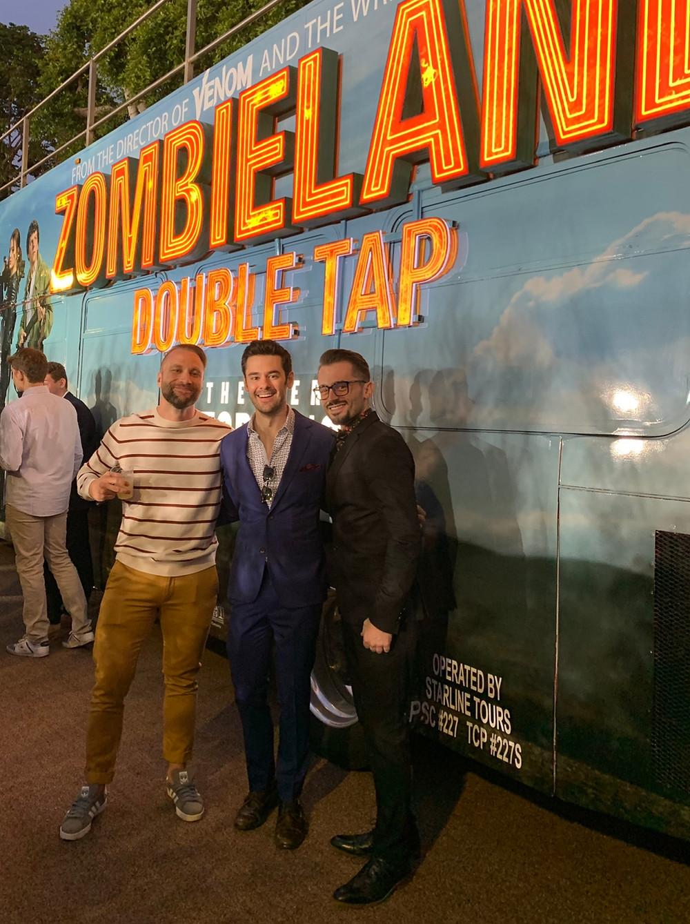"Brad R Lambert at the ""Zombieland: Double Tap"" Premiere with Brendan Robinson"