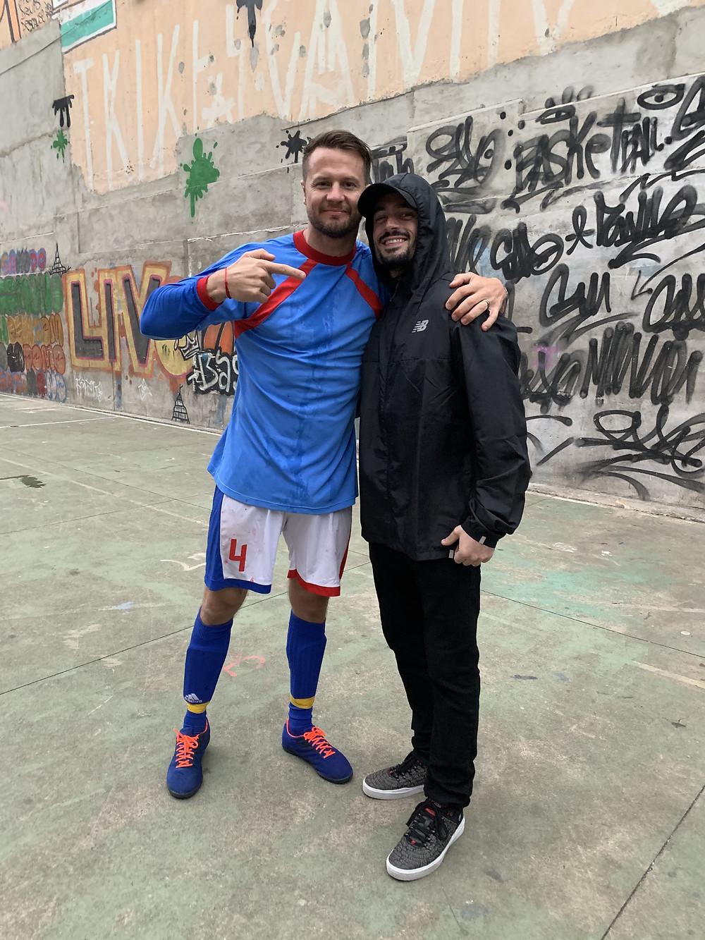 Brad R Lambert with client Bobby Holland Hanton in São Paulo