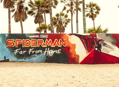 Brad Lambert - Client Bosslogic Designs Mural for the Release of Spider-man: Far From Home