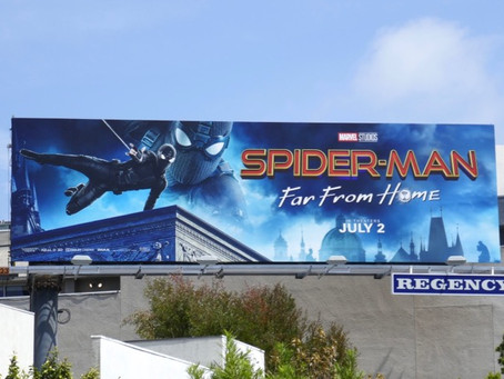 Brad R Lambert - Spider-Man: Far From Home Billboards Launch in LA Designed by Client Bosslogic