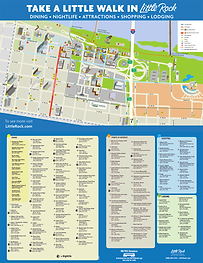 Downtown Little Rock and Rivermarket Map