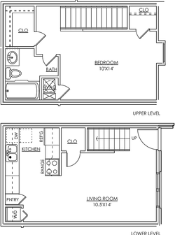 Townhouse 1BR