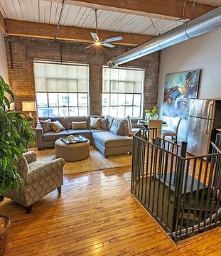 Rock Street Loft – living room view