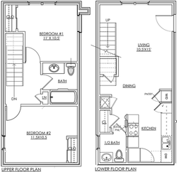 Townhouse 2BR