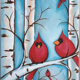 Micahel's Cardinals on Birch