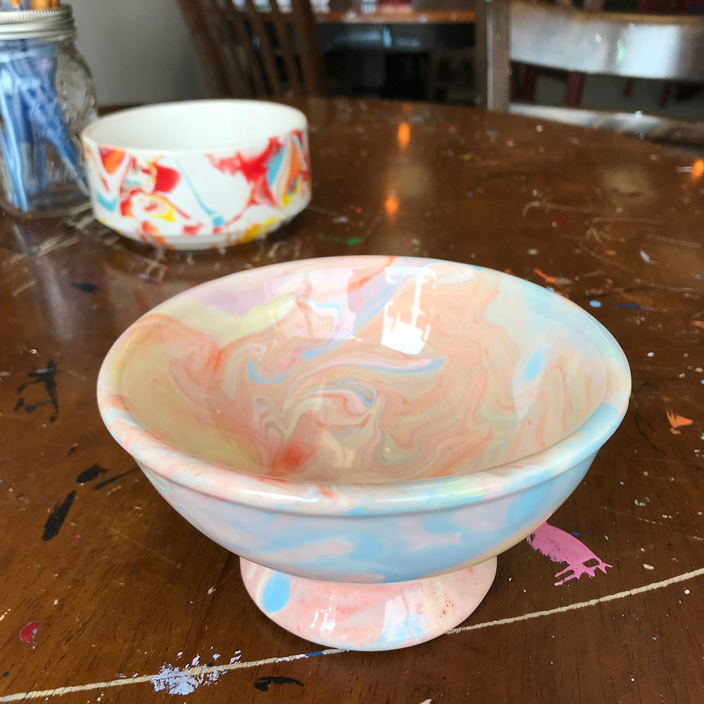 Marble ice cream bowl by Anabel