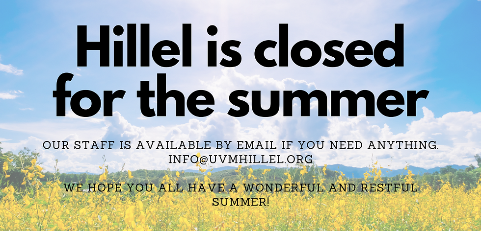 Hillel is closed for summer.png