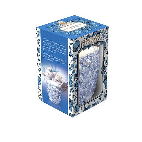 """Подарочная керамическая чайница Орхидеи (чай """"Земляника со сливками"""")"""