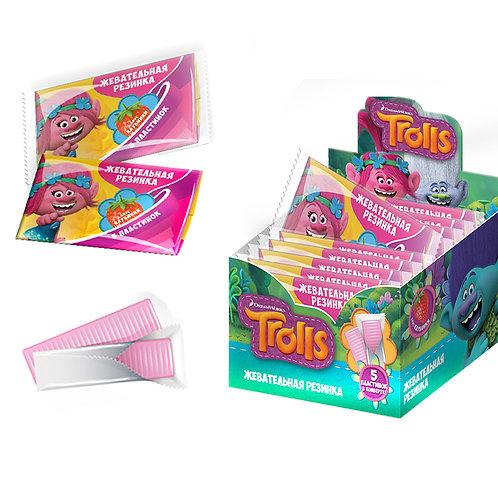 """""""TROLLS"""" GOOD Фрукт"""" Жевательная резинка со вкусом клубники в картонном конверте"""