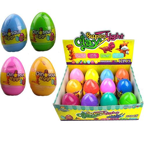 Набор пластилина в большом пластиковом яйце CLAY DOLL