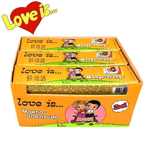 LOVE IS жевательные конфеты Манго-Оранж